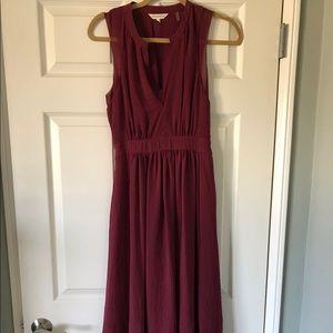 Rebecca Taylor Midi BURGUNDY Dress